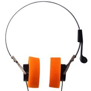 Invent スターロードスタイルウォークマンHi-Fiステレオイヤホンヘッドセット、オレンジ耳パッド afan-mori