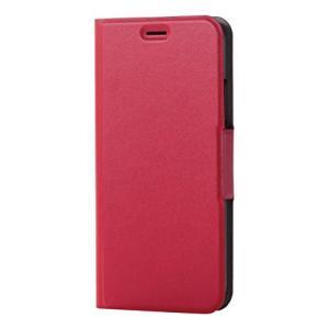 エレコム iPhone X ケース カバー 手帳型 レザー ウルトラスリム サイドマグネット レッド PM-A17XPLFURD afan-mori