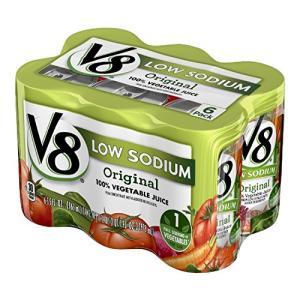 キャンベル V8野菜ジュース減塩タイプ 163ml×6個 afan-mori