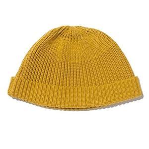ニット帽 ニットキャップ 帽子 イスラム帽子 ワッチキャップ ショート手編み イスラムワッチ 男女兼用 黄色|afan-mori