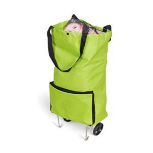 軽量 大容量 エコバッグ 折りたたみショッピングキャリー 2輪キャスター付き バッグ カート|afan-mori