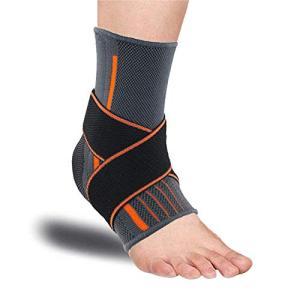 足首サポーター、足首ブレースアーチサポート 足首固定保護 スポーツ用 足底筋膜炎圧縮靴 傷害の回復 捻挫予防 関節 靭帯 筋肉保護 アキレス腱のランニ|afan-mori