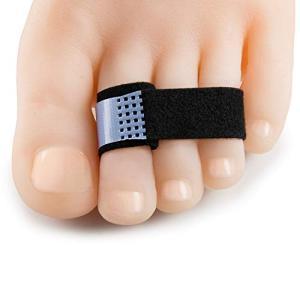 Welnove 10個足指矯正パッド 指間保護 足指サポーター のハンマートゥラップスプリント、トゥクッション付き包帯でヘルプハンマートゥ、クルックド afan-mori