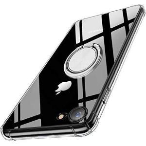 iPhone SE ケース iPhone 7 ケース iPhone 8 ケース 全透明 TPU 耐衝撃 クリア リング付き 車載ホルダー対応 軽量 薄 afan-mori