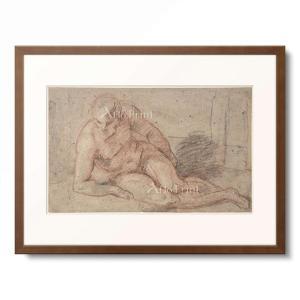 Watteau, Antoine 1684-1721.  Reclining Nude Figure...