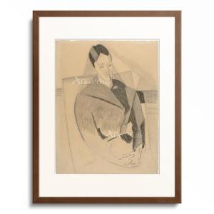 Gris, Juan 1887-1927.  Portrait of Mme Cezanne aft...