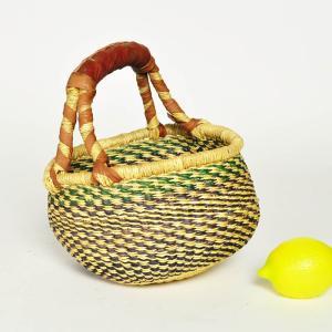 ●ブルキナバスケット mini(アフリカ かご バスケット カゴバッグ)|afromode