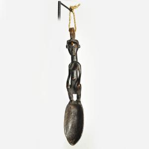 《アフロアートフェア・17日まで》バウレ族スプーン像(アフリカ 木彫品 彫刻 インテリア)|afromode