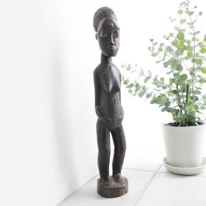 ◎バウレ族彫像(アフリカ アート インテリア 彫刻 木彫品 )|afromode