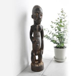 ◎バウレ族男性像(アフリカ アート インテリア 彫刻 木彫品 )|afromode