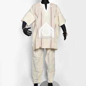 ◎セヌフォ族 ポンチョシャツ ズボン 上下セット≪アフリカ エスニック ファッション 民族衣装≫|afromode