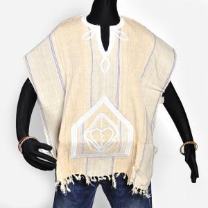 ≪アフロX'mas SALE 20%OFF≫●セヌフォ族 ポンチョ シャツ≪アフリカ エスニック ファッション 民族衣装≫|afromode