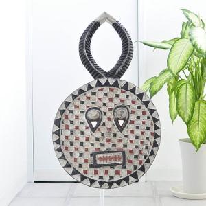 ≪アフロX'mas SALE 20%OFF≫◎バウレ族(プレプレ)マスク(アフリカ アート インテリア エスニック 仮面 )|afromode