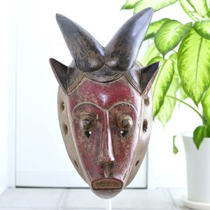 ◎バウレ族マスク(アフリカ アート インテリア エスニック 仮面 )|afromode