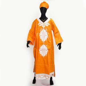 ○コットン 刺繍ワンピース ≪フラー付≫|afromode