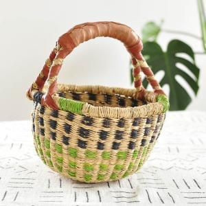 ●ブルキナバスケット mini(アフリカ カゴバッグ ボルガ)|afromode