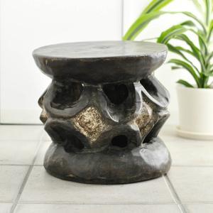 《アフロ家具フェア対象》◎バミレケ族腰掛(アフリカの家具、スツール,椅子)|afromode