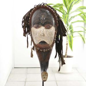 ◎ファン族マスク(専用スタンド付)(アフリカンアート 仮面)|afromode