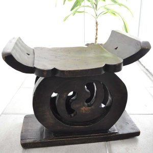 ≪Spring SALE!3/26まで≫◎バウレ族長老の腰掛(アフリカの家具 スツール 椅子)|afromode