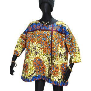 ○アフリカン ドロップショルダー ブラウス|afromode