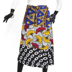 ≪ファッションフェア15%OFF!5/22まで≫○パッチワーク 腰巻きスカート (アフリカン パーニュ レディースボトムス)|afromode