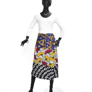 ≪23周年23%OFF!4/28まで≫○パッチワーク 腰巻きスカート (アフリカン パーニュ レディースボトムス)|afromode|02