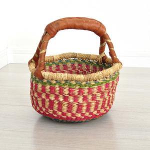 ≪23周年23%OFF!4/28まで≫●ブルキナバスケット mini(アフリカ カゴバッグ ボルガ)|afromode