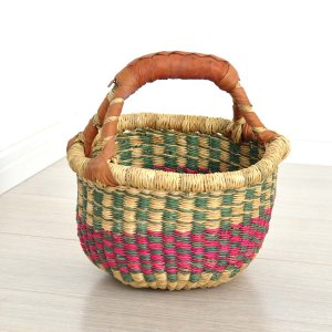 ≪Spring SALE!3/26まで≫●ブルキナバスケット mini(アフリカ カゴバッグ ボルガ)|afromode