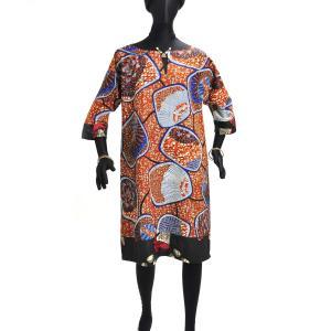 ○アフリカン パッチワーク ワンピース (ロング シャツ)|afromode