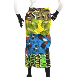 ≪23周年23%OFF!4/28まで≫○パッチワーク 腰巻きスカート (アフリカン パーニュ レディースボトムス)|afromode|03