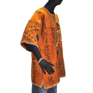 ≪23周年23%OFF!4/28まで≫●泥染め シャツ(ボゴラン アフリカ 民族衣装)|afromode|02