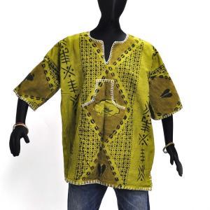 ≪23周年23%OFF!4/28まで≫●泥染め シャツ(ボゴラン アフリカ 民族衣装)|afromode