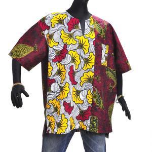 ○アフリカン スキッパーシャツ Lサイズ|afromode