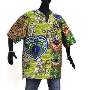 ≪23周年23%OFF!4/28まで≫○アフリカン スキッパーシャツ Lサイズ|afromode