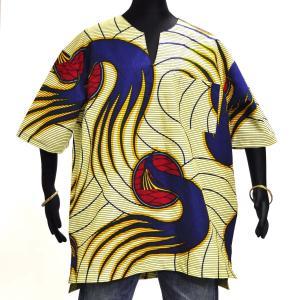 ≪23周年23%OFF!4/28まで≫○アフリカン スキッパーシャツ Lサイズ afromode