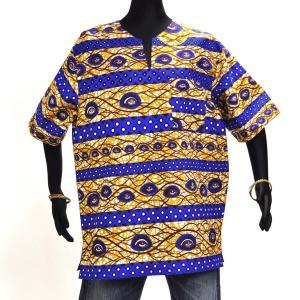 ≪23周年23%OFF!4/28まで≫○アフリカン スキッパーシャツ Mサイズ afromode