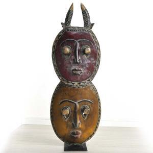 ◎バウレ族≪プレプレ≫双子マスク(アフリカンアート 仮面)|afromode