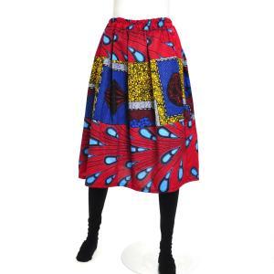 ≪ファッションフェア15%OFF!5/22まで≫○アフリカン パッチワーク スカート (パーニュ ボトムス)|afromode