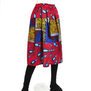 ≪ファッションフェア15%OFF!5/22まで≫○アフリカン パッチワーク スカート (パーニュ ボトムス)|afromode|02