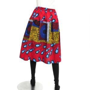 ≪ファッションフェア15%OFF!5/22まで≫○アフリカン パッチワーク スカート (パーニュ ボトムス)|afromode|03