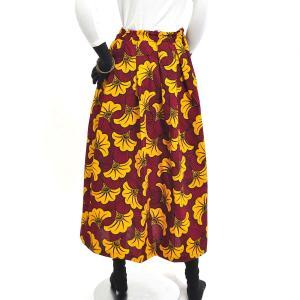 ≪ファッションフェア15%OFF!5/22まで≫○アフリカン スカート (パーニュ ボトムス) afromode 04