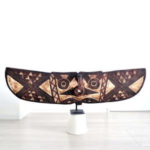 ◎ブワ族パピヨンマスク(アフリカン 仮面 アート)|afromode