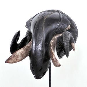 ◎バウレ族牡羊マスク(アフリカン 仮面 アート)|afromode