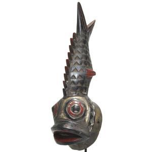 ≪サマーSALE20%OFF≫◎モシ族小マスク《専用スタンド付》(アフリカンアート 仮面彫刻)
