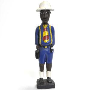◎コロン人形 34cm(アフリカ インテリア 彫刻)|afromode