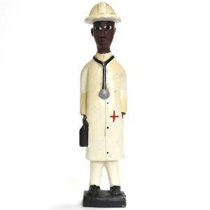 ◎コロン人形 32cm(アフリカ インテリア 彫刻)|afromode