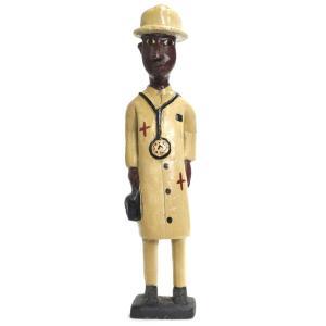 ◎コロン人形 31cm(アフリカ インテリア 彫刻)|afromode