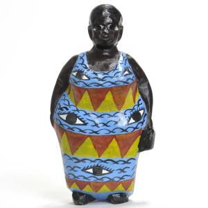 《期間限定特価・15%OFF!》●おばさん コロン人形 16cm(アフリカ インテリア 彫刻)|afromode