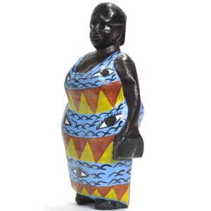 《期間限定特価・15%OFF!》●おばさん コロン人形 16cm(アフリカ インテリア 彫刻)|afromode|02