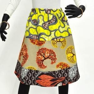 ○新作パッチワーク スカート(ゴム止め) (アフリカン パーニュ ボトムス)|afromode